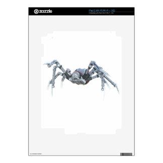 Araña del robot en gris, rojo y plata skins para eliPad 2