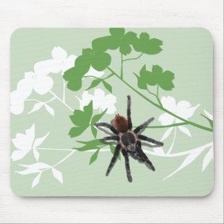 araña del tarantula en el cojín de ratón del flor  alfombrilla de raton