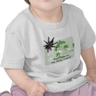 araña del tarantula en la camisa divertida del flo
