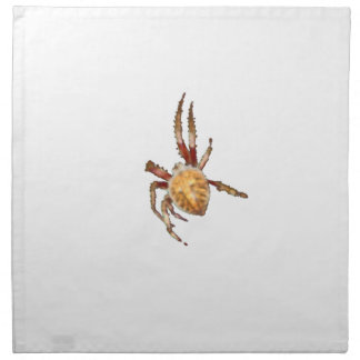 Araña del tejedor del orbe del jardín servilletas imprimidas