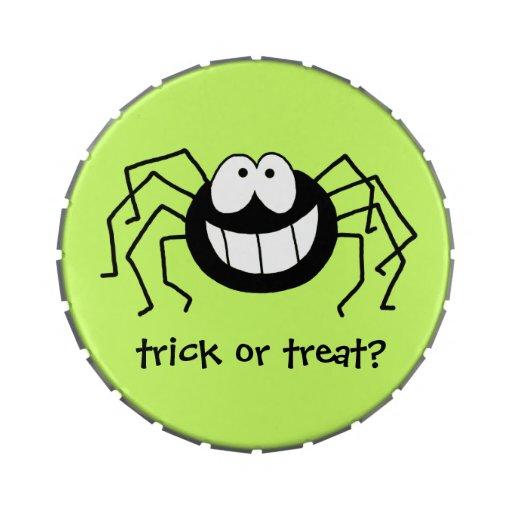 Araña del truco o de la invitación jarrones de caramelos