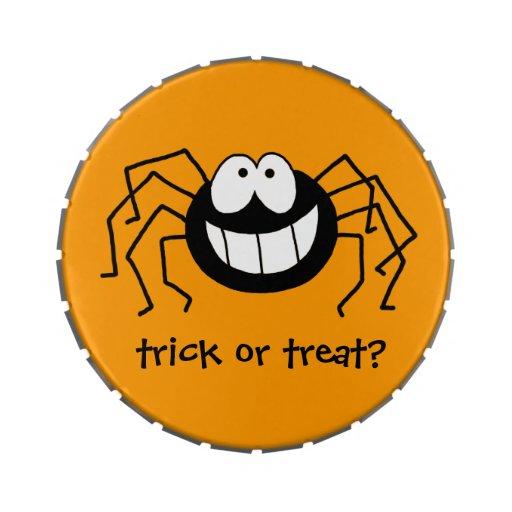 Araña del truco o de la invitación jarrones de dulces