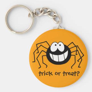 Araña del truco o de la invitación llavero redondo tipo pin