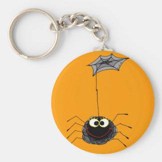 Araña divertida llaveros