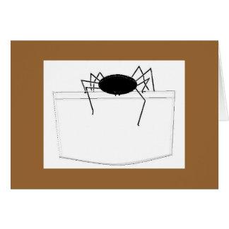 Araña en bolsillo tarjeta de felicitación
