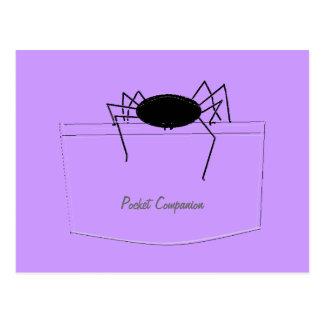 Araña en bolsillo tarjetas postales