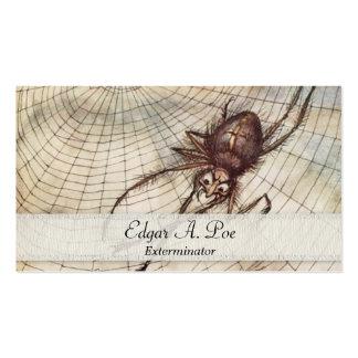 Araña en Exterminator del ejemplo del Web Plantilla De Tarjeta De Negocio