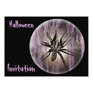 Araña en púrpura invitaciones personalizada