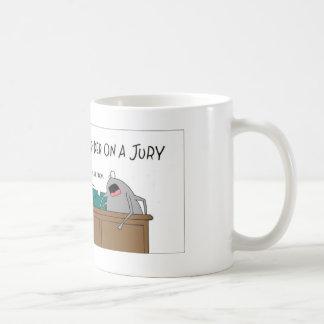 Araña en un jurado taza