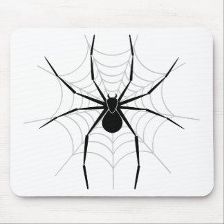 Araña en un Web Tapetes De Raton