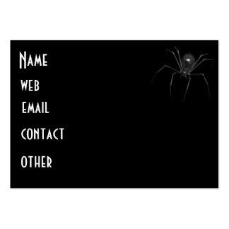 Araña espeluznante negra grande 3D Tarjetas De Negocios