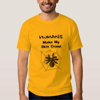 Araña espeluznante poleras