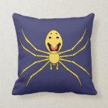 Araña feliz de la cara del grallator de Theridion  Almohada