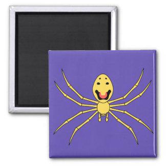 Araña feliz de la cara del grallator de Theridion  Imán Cuadrado