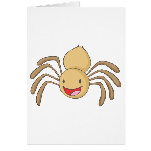 Araña feliz tarjeta de felicitación