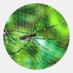 Araña gigante del Argiope Etiquetas Redondas