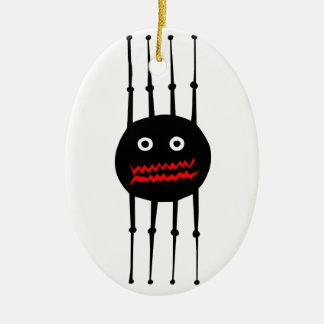 Araña gráfica fresca de la diversión de los adorno navideño ovalado de cerámica