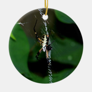 Araña grande del tejedor del orbe adornos de navidad