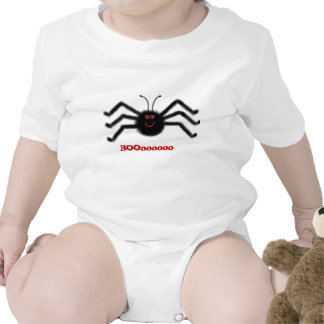 Araña infantil BOOooooo Halloween del negro de la Trajes De Bebé