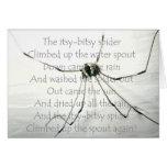 Araña Itsy-Bitsy - tarjeta en blanco