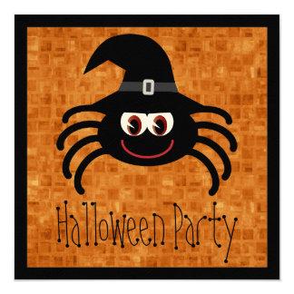 Araña linda de Halloween del dibujo animado Invitacion Personal