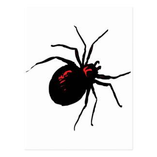 Araña mortal postal