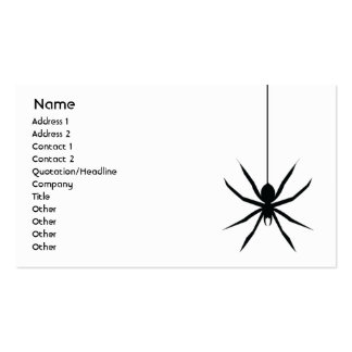 Araña - negocio tarjetas de visita