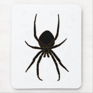 Araña negra, arácnido alfombrilla de raton