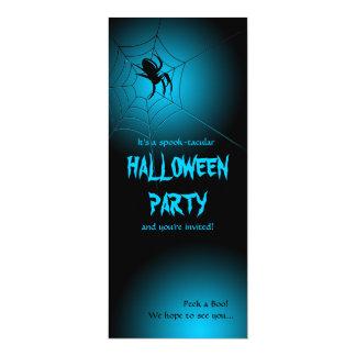 """Araña negra de Halloween en el Web Invitación 4"""" X 9.25"""""""