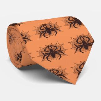 Araña negra en tela corbata personalizada