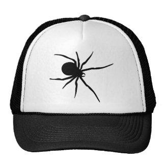 Araña negra gigante gorras