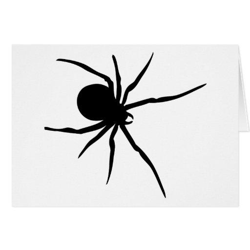 Araña negra gigante tarjeta de felicitación