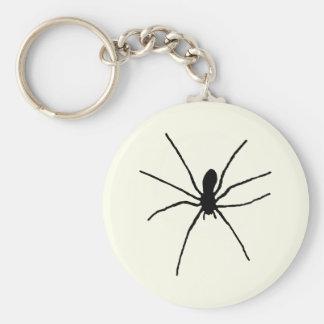 Araña negra llavero redondo tipo pin