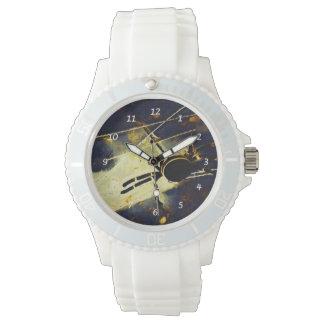 Araña negra reloj de mano