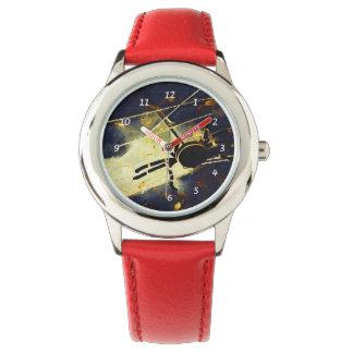 Araña negra relojes de pulsera