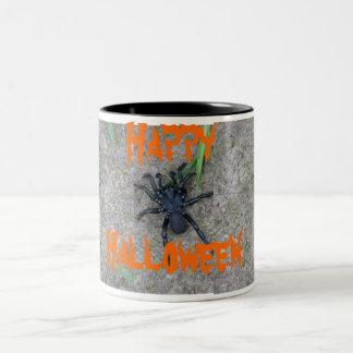 Araña negra taza de dos tonos