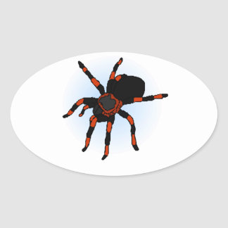 Araña Pegatina Ovalada