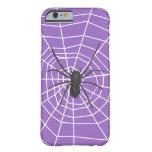 Araña púrpura/negra Halloween Funda De iPhone 6 Barely There