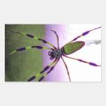 Araña púrpura y verde de neón rectangular altavoz