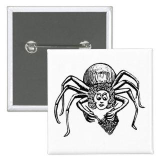 Araña que hace punto (Tess) Pin Cuadrada 5 Cm