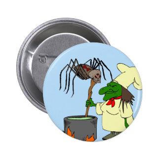 Araña que mira al cocinero de la bruja pin