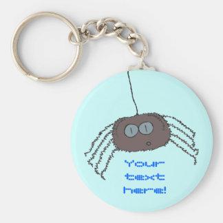 Araña que pica llavero redondo tipo pin