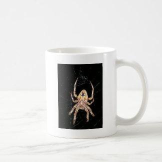 Araña que teje del orbe del jardín taza de café