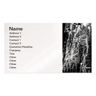araña-red tarjetas personales