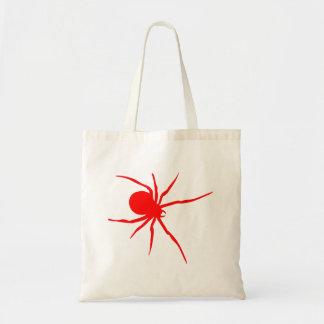 Araña roja de la viuda negra bolsa