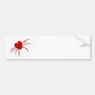 Araña roja de los corazones pegatina para auto