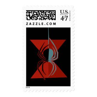Araña roja del reloj de arena sello postal