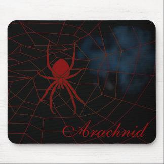 Araña roja en tela, arácnido alfombrilla de ratón