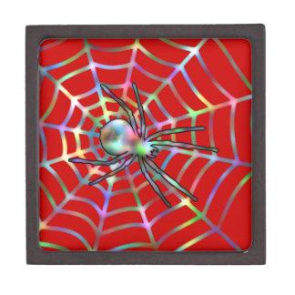 Araña roja fresca en el Web Cajas De Joyas De Calidad