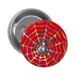 Araña roja fresca en el Web Pins